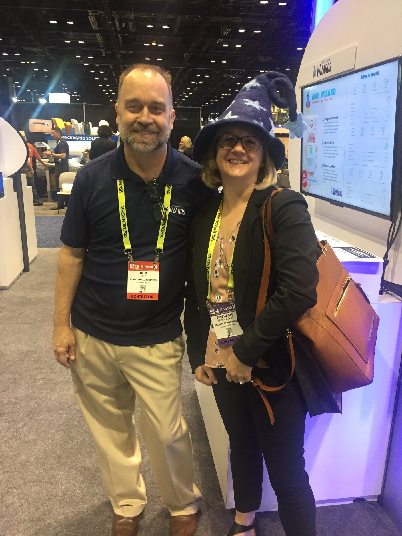 Don Cole with Stephanie from Big Dot of Happiness at #IRCE2019